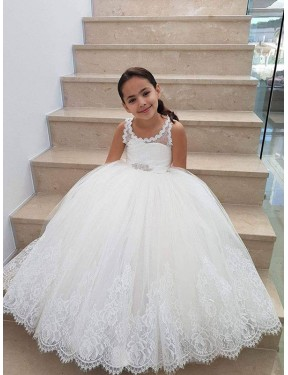 Shop Ivory Ball Gown  Lace & Tulle Flower Girl Dress Quebec
